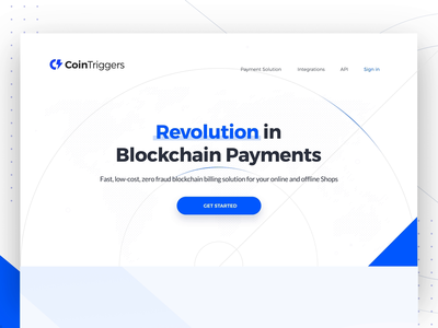 Cointriggers-Revolution in Blockchain Payments payment solution integrations api scroll down landing page ui footer abstract icons hover features ecommerce shop landing page newsletter get notified blockchain payments blockchain landingpage website motion graphic page transition interaction animation webdesign landing page