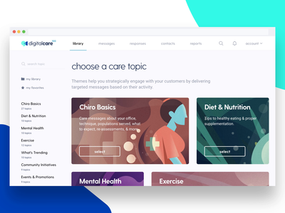 Digital Care 100 Medical Platform design chiropractic selection medical app medical platform landing page web design medical care interactive prototype page transition scrolling cta navigation play video branding website layout wireframe after effects figma medical illustration library