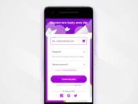 Mobile sign up form illustration social daily ui ux ui register sign up app mobile sketch