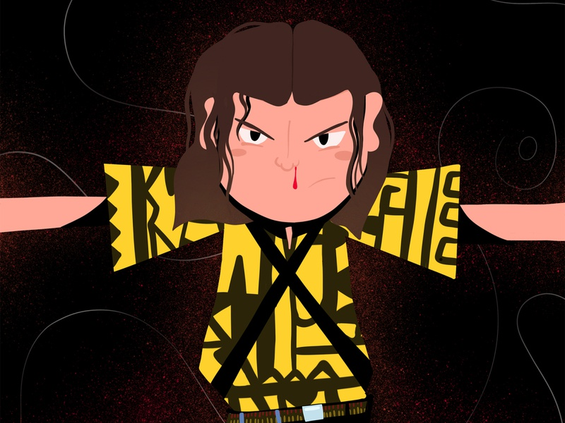 Eleven The Might flat illustration illustration art illustrator flat fanart eleven strangerthings stranger things