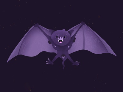 Naughty Bat exhibition character design character illustration illustrator night wings naughty batman bat
