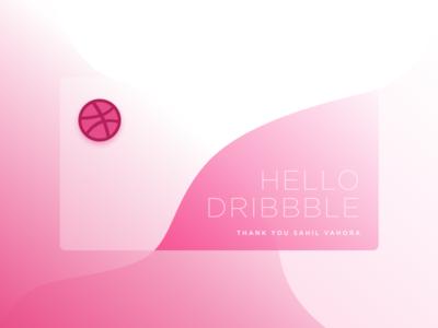Hello Dribbble hello dribbble first shot dribble debut
