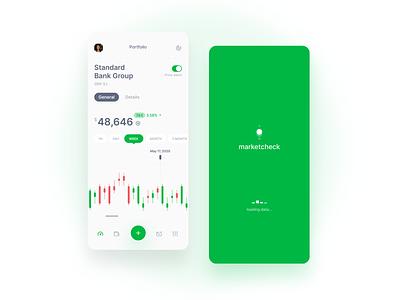 marketcheck app dribbbleshot money stock market stock interface app ui ios