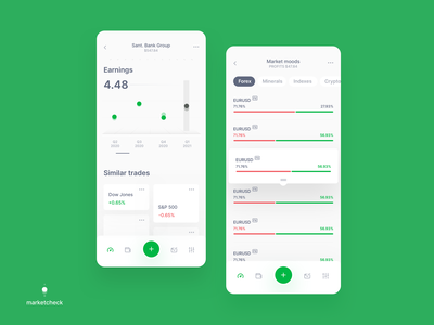 marketcheck app v2 save money finance money green stock stock market userexperiance dribbbleshot interface app mobile ui ios