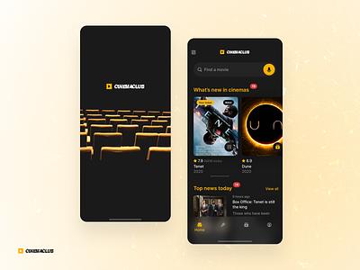 cinemaclub promo sketch fun leisure ticket black theater film movie cinema userexperiance dribbbleshot typography design ux ui app interface mobile ios