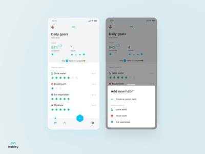 Your habits habit tracker blue to do userinterface userexperiance design ux dribbbleshot interface app mobile ui ios habits