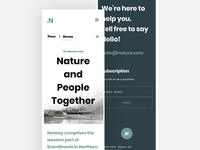 Blog post - .Nature mobile