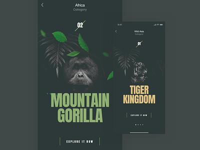 Wildlife wildlife natureboy ux nature typography design dribbbleshot interface ui app mobile ios