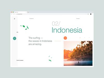 OurWorld website userexperiencedesign planet travel nature webdesign typography web ui ux dribbbleshot interface