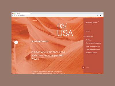 OurWorld website - USA uxd userexperiance usa world planet nature webdesign typography design web dribbbleshot interface ui