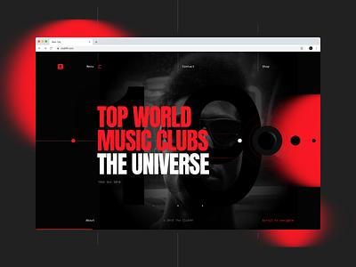 Club 99 website userinterfacedesign blackandred music art event club music webdesign typography design web ux dribbbleshot interface ui