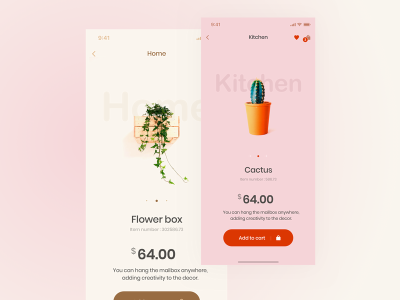 E-commerce app userinterface userexperiance ux ecommerce store nature typography design dribbbleshot interface app ui mobile ios