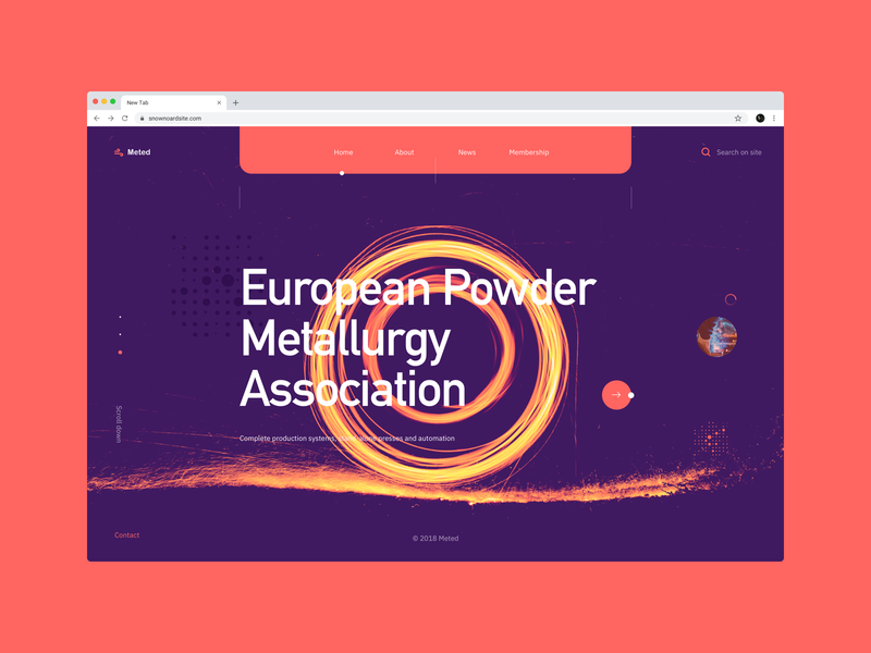 Meted - metallurgist industry userexperiance company metalurgist webdesign typography design web ux dribbbleshot interface ui