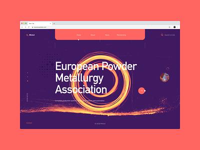 Meted - metallurgist industry userexperiance company metalurgist webdesign typography design web ux dribbbleshot interface ui