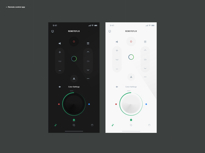 Remote Control App dribbble userinterface remote control userexperiance design ux dribbbleshot interface app ui mobile ios