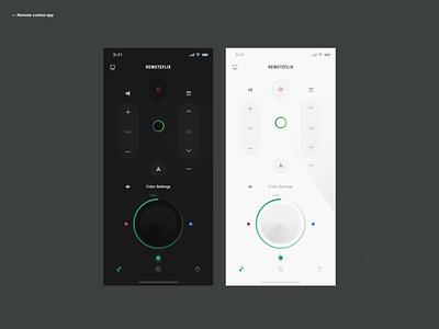 Remote Control App dribbble userinterface remote control userexperiance design ux dribbbleshot interface app ui mobile ios