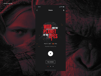 Remote Control App - Movie Sync remote control sync movie userinterface userexperiance interface typography design ux dribbbleshot ui app mobile ios