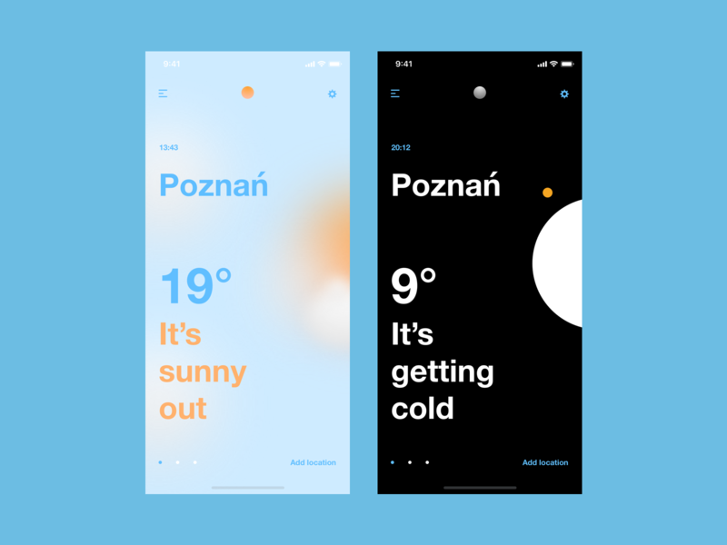 Weather app weather userexperiance typography design ux dribbbleshot interface app ui mobile ios