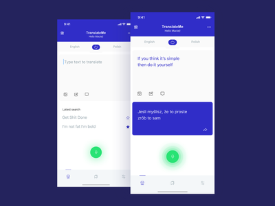 Text translation app. languages userinterface userexperiance dailychallenge uidaily translator design ux dribbbleshot ui app mobile ios