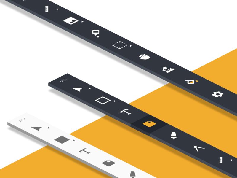 Toolbars vector browser devices ui ux desktop design
