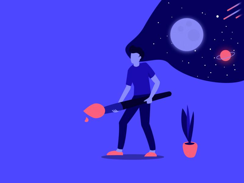 The universe is your canvas design browser vector desktop illustration