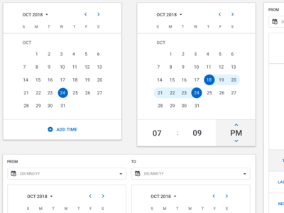 Calendar UI ux ui devices browser mobile vector desktop design