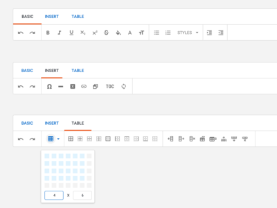 Editor Controls application collaboration ux ui devices browser vector desktop design