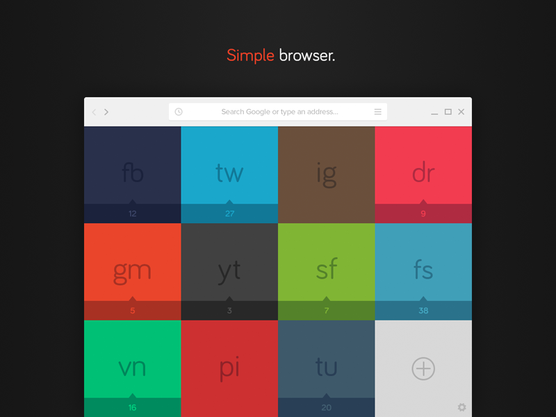 Simple Browser (Concept) illustration simple browser web website user interface colors fresh bright pastel fonts grid browsing flat