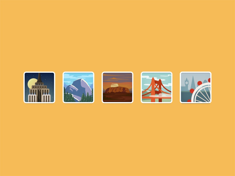 Layer traveler series badges