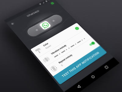 Mi Band Control whatsapp notification android app design ui design mi band control mi band