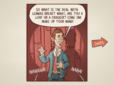 Seinfeld and Dragons comics comic illustration dnd seinfeld