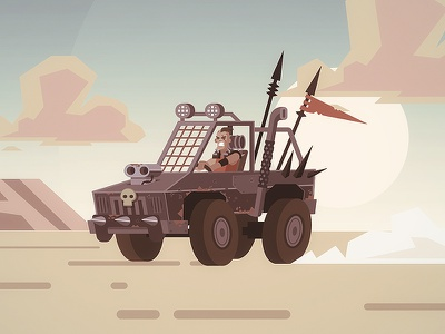 Mad Maxy raider doodle illustration doodle post apocalyptic raider