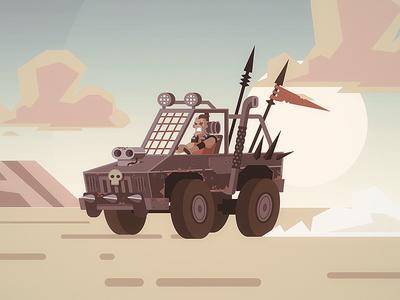 Mad Maxy raider doodle illustration doodle post apocalyptic raider