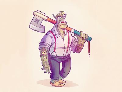 Hipstorc procreate character design illustration doodle orc hipster