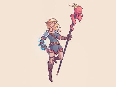 Sorceress magic fantasy illustration doodle