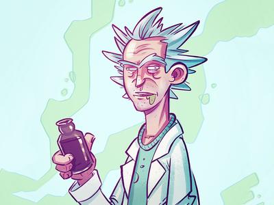 Free Rick doodle illustration rick and morty free rick
