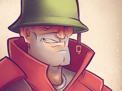 TF2 Soldier procreate doodle illustration tf2 soldier