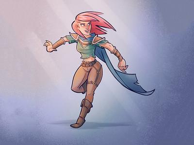 Scout scout fantasy illustration doodle