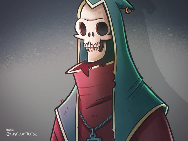Skeleton dude skeleton procreate cartoon sketchbook doodle illustration