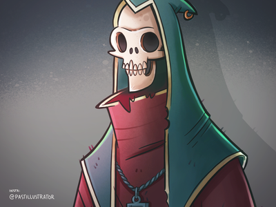 Skeleton dude skeleton procreate cartoon sketchbook doodle illustration