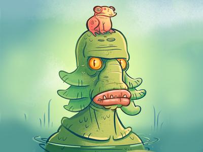 Lagoon Goon procreate frog monster lagoon illustration doodle