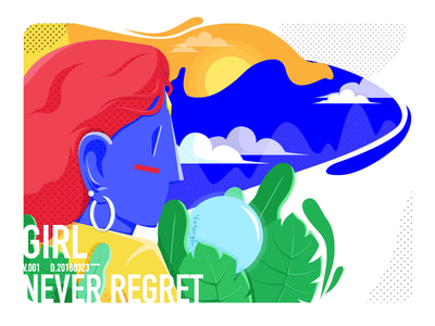 Go ahead and never regret color hit character scenes illustration