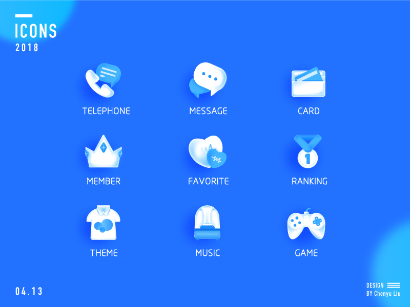 ICONS phone blue ui icons