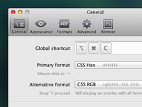 ColorSnapper Preferences Icons