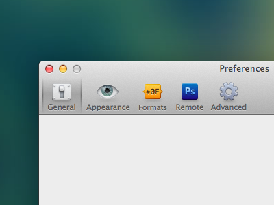 Preferences Icons Take 2 preferences icon osx dialog colorsnapper