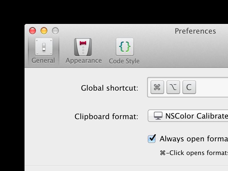 ColorSnapper v2 Preferences Icons evolution icons icon preferences ui osx controls mac app colorsnapper