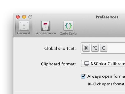 ColorSnapper v2 Preferences Icons evolution icons icon preferences ui osx controls mac app colorsnapper