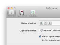 ColorSnapper v2 Preferences Icons evolution