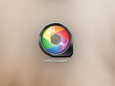 ColorSnapper New Icon icon application mac loupe colorsnapper color picker iris aperture steel