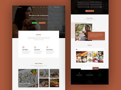 Restuarant home page home delivery health food restuarant cafe breakfast dinner lunch food and beverage food and drink design ui sketch uiux